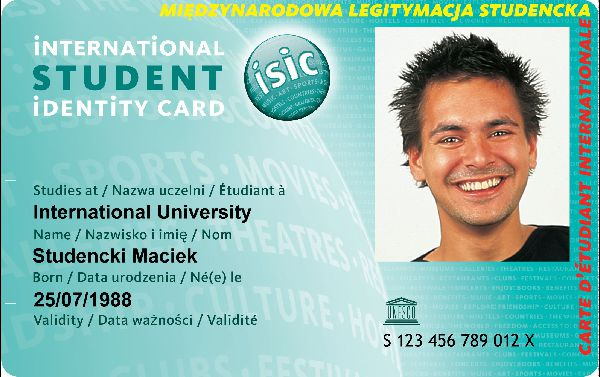 student international identity card